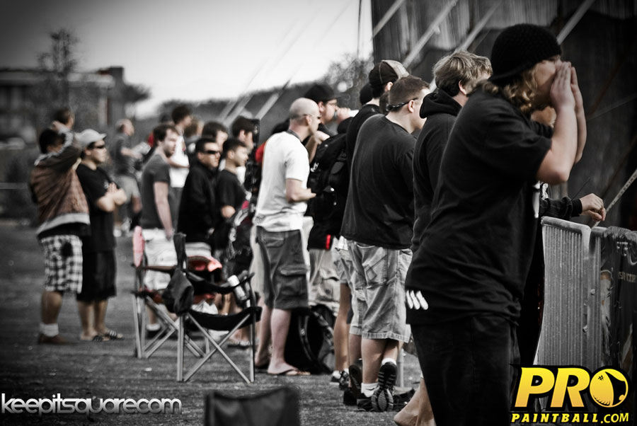 paintball crowd