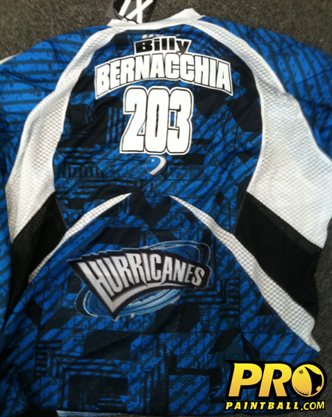 New Paintball Gear: NE Hurricanes DYE Jersey, back