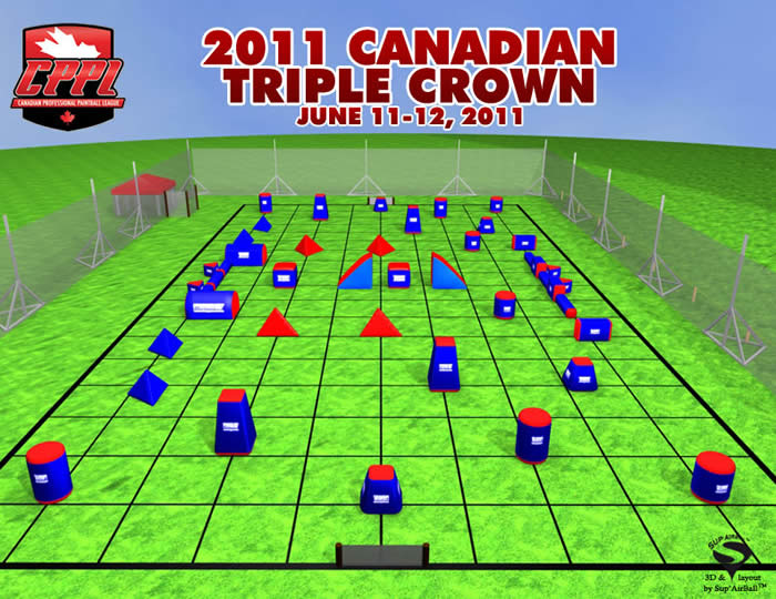 Canadian Paintball Field Layout Triple Crown 2011