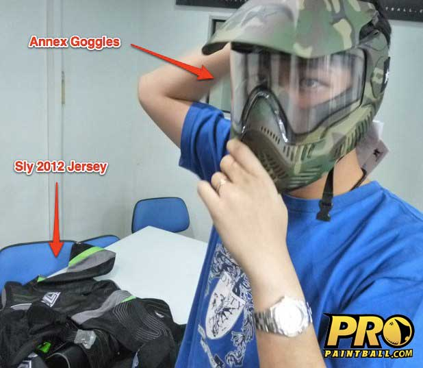 Sly Paintball jersey 2012 and Annex Paintball goggles