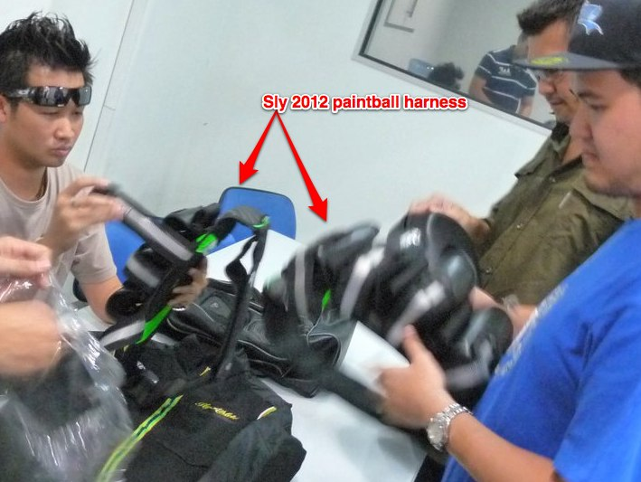 sly paintball gear harness