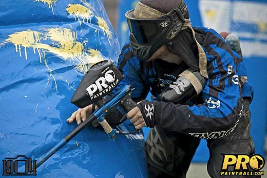 Pro paintball player Mike McCormick from San Diego Dynasty