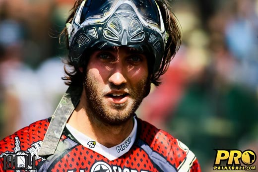Pro paintball player Nick Slowiak on the move