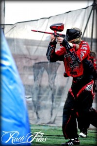 Nico Perry playing paintball with Notorious