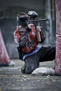 Paintball player Nico Perry locking it down