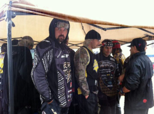 XSV Paintball team practices in the rain