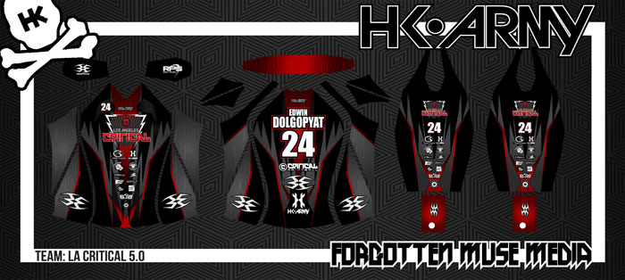 new paintball jersey for LA Critical