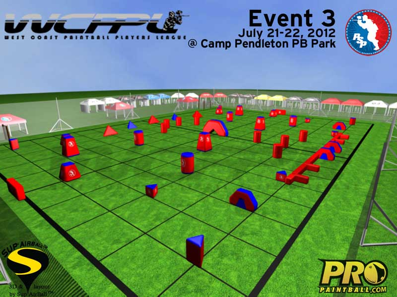 WCPPL Event 3 Paintball Layout