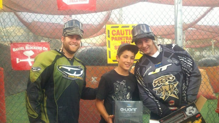 Pro paintball player Junior Brown