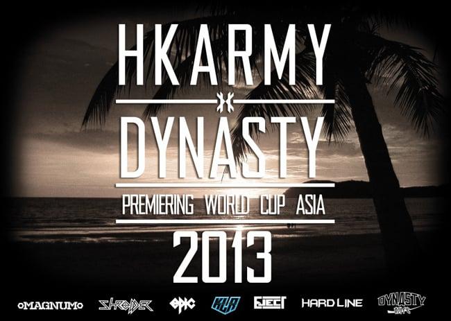 DYNASTY to wear HK ARMY paintball gear in 2013