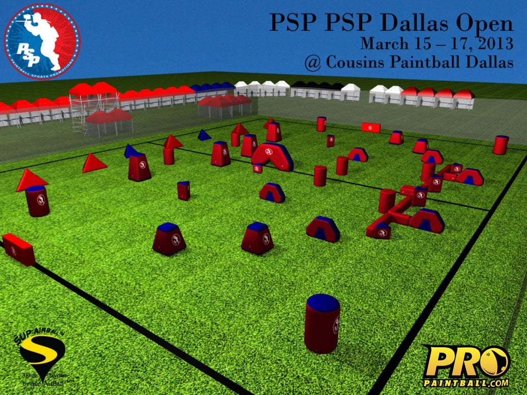 PSP Dallas Paintball Field Layout