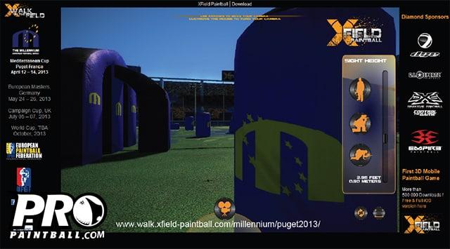 3D Virtual Field Walk App for Millennium Series