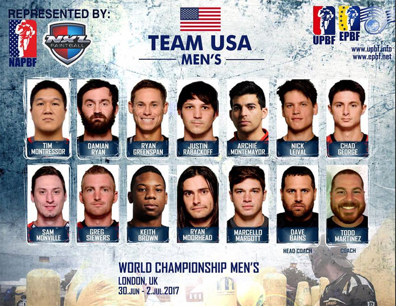 Paintball Team USA Roster