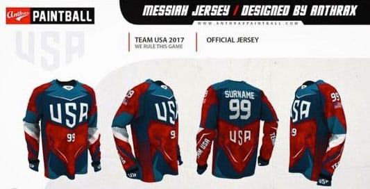 Paintball Jersey Team USA