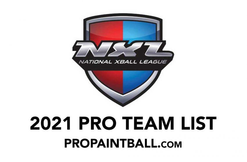 NXL Pro Paintball Team List (2021)