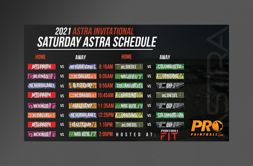 Astra Invitational Schedule of Games
