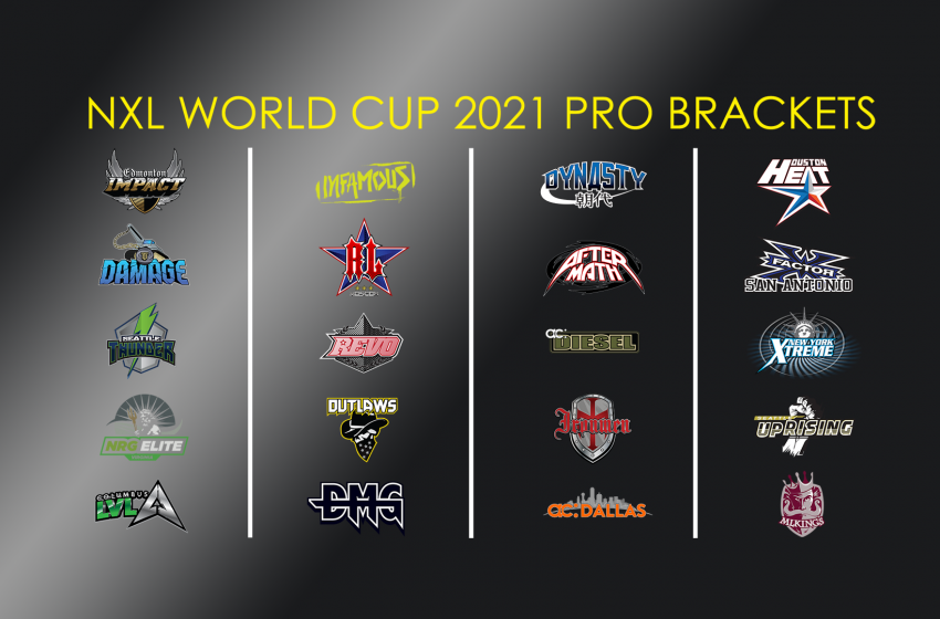 NXL World Cup Pro Brackets are set!